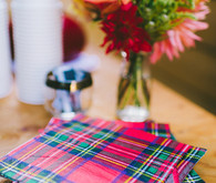 Plaid cocktail napkins