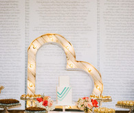 Whimsical Smog Shoppe Wedding Dessert Bar