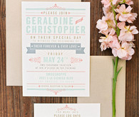 Whimsical Smog Shoppe Wedding Invitation