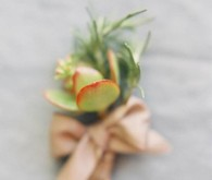 green wedding inspiration boutonniere