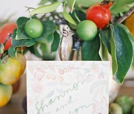 green wedding inspiration escort cards
