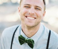 green wedding groom