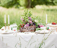 Woodland wedding dessert table
