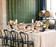 Romantic modern wedding tablescape