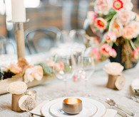 Romantic modern wedding place setting