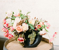 Colorful flower centerpiece