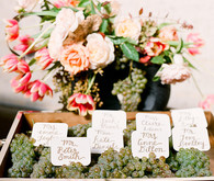 Escort card set up
