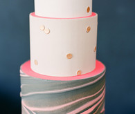 Marble pink and grey cake