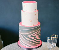 Marble grey and pink cake