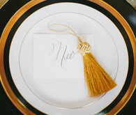 Art Deco black and gold escort card