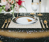 Black and gold tables cape