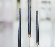 Art Deco black and gold candle sticks
