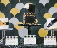 Black & gold wedding cakes