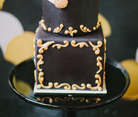 Black & gold Art Deco wedding cakes