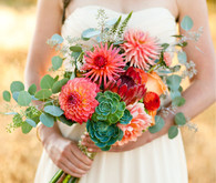 Modern, Rustic Wedding Florals