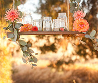 Modern, Rustic Wedding Decor