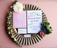 Modern, Rustic Wedding Invitation