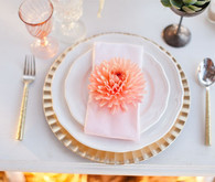 Modern, Rustic Wedding Place Setting