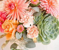 Modern, Rustic Wedding Flowers