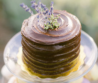 Chocolate lavender cake