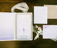 Purple ombre invitation set