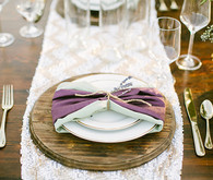 Lavender farm wedding inspiration mint and purple place setting