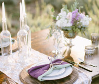 Lavender farm wedding inspiration place setting