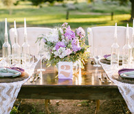 Lavender farm wedding inspiration tablescape