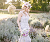 Lavender farm inspiration bride
