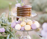 Cake and macaroon set up