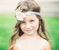 Flower girl with headpiece