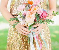 Bridesmaid colorful bouquet