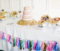 Dessert table with colorful tassels