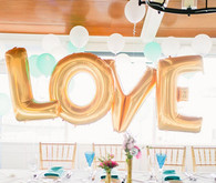 Gold LOVE foil balloons