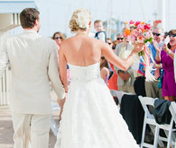 Beachside wedding ceremony
