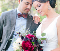 Southeren California ranch wedding portrait