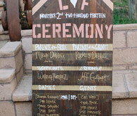 Ranch wedding wooden signage