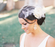 Bride with hairpiece and veil