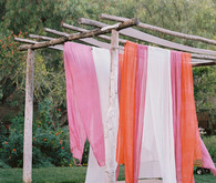 Fabric ceremony backdrop