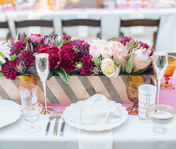Southern California ranch wedding tablescape