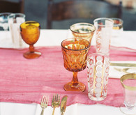Gold and orange glassware