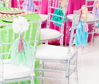 Modern, Colorful DIY Chair Decor