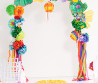 Modern, Colorful Wedding Ceremony Decor