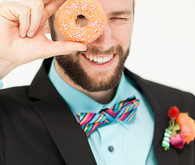 Colorful groom