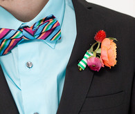 Modern, Colorful Boutonniere