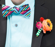 Modern colorful bow tie