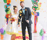 Modern, Colorful Wedding Portrait
