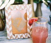 tropical wedding table number