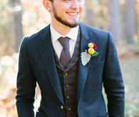 Rustic Fall Wedding Groom