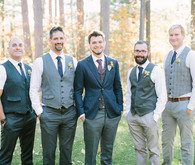 Rustic Fall Wedding Groomsmen